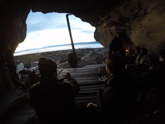 Estancia 25 de Mayo: Jantar na caverna. excelente!