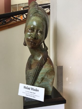 African-American Research Library and Cultural Center: Sculpture by James Tandi
