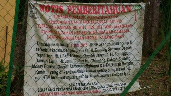 Bentong, มาเลเซีย: Lentang Forest Recretional Park