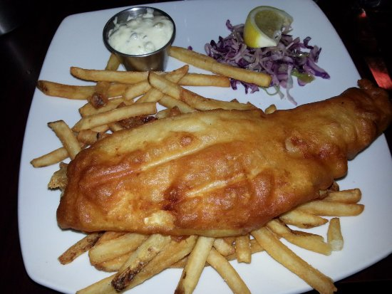 The Birches Restaurant: One piece of fish and chips. HUGE :)