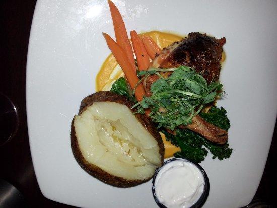 The Birches Restaurant: The stuffed chicken.