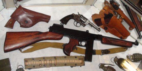 Laurel, MS: U.S. Thompson M1928A1 .45 caliber submachine gun...WWII
