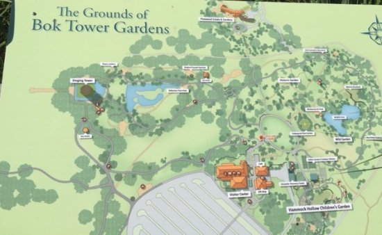 Lake Wells Florida Map.Map Picture Of Bok Tower Gardens Lake Wales Tripadvisor