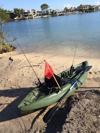 Mooloolaba, Australia: Guided kayak fishing set up