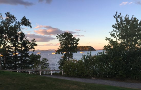 Bar Harbor Inn: view from deck of room 118