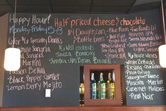Bar menu - Picture of The Melting Pot of Darien, Darien