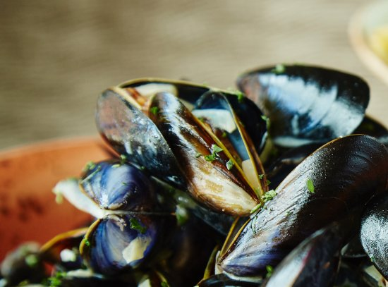 Worsley, UK: Mussels