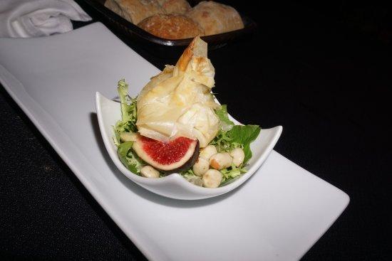 Salt, İspanya: Menú de tastets, con queso de cabra, muy bueno