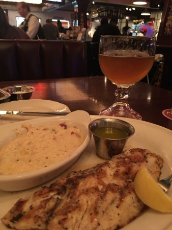 Redfish And Grits Picture Of Pappadeaux Seafood Kitchen Beaumont Tripadvisor