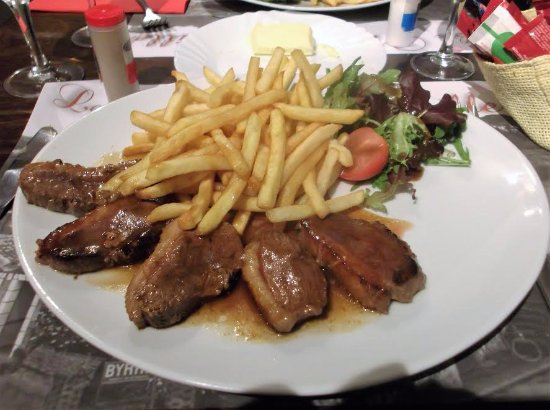 Apremont, Prancis: Duck breast with honey