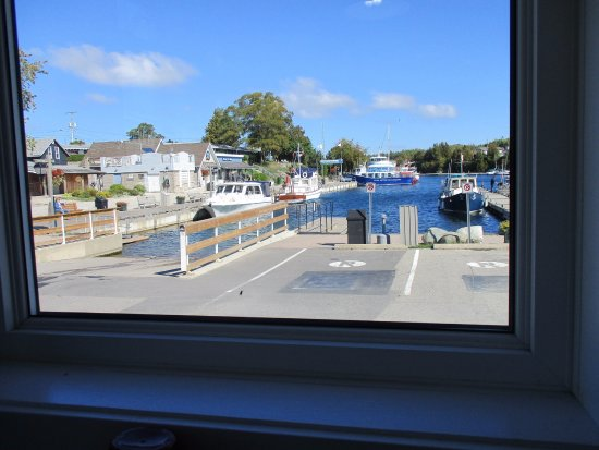 Craigie's Harborview Restaurant : View of Little Tub Harbour from our table.