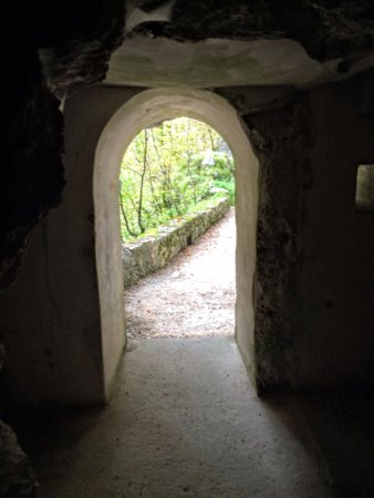Fort Hermann: View of entrance from inside looking out