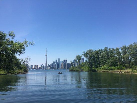 Centre Island: Toronto vista da ilha.