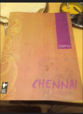 Chennai Restaurant: Menu