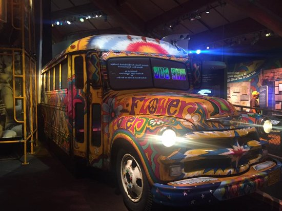 Bethel Center Museum exhibit-hippie bus