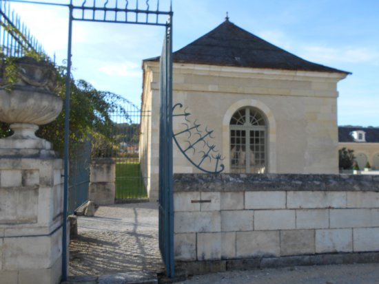 Gate by stables at Ancy-le-Franc