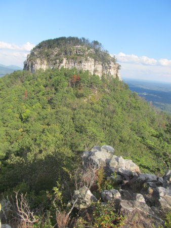 Mount Airy, NC: View of Pilot Mountain from viewing platform