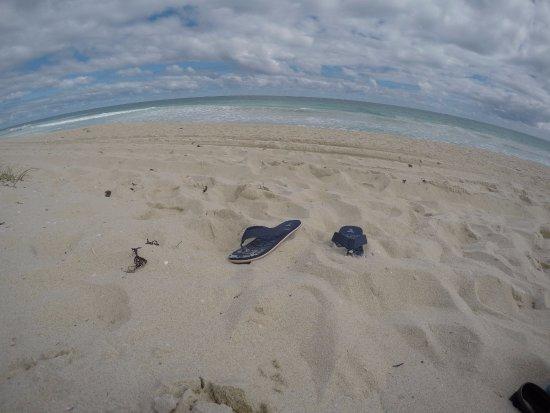 Scarborough Beach: Sitting on the beach