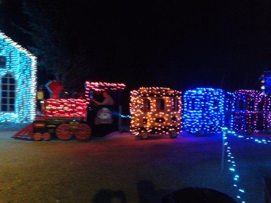 santas wonderland childs train ride - Christmas Lights College Station