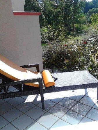 Hotel Pfalzblick : Terrasse