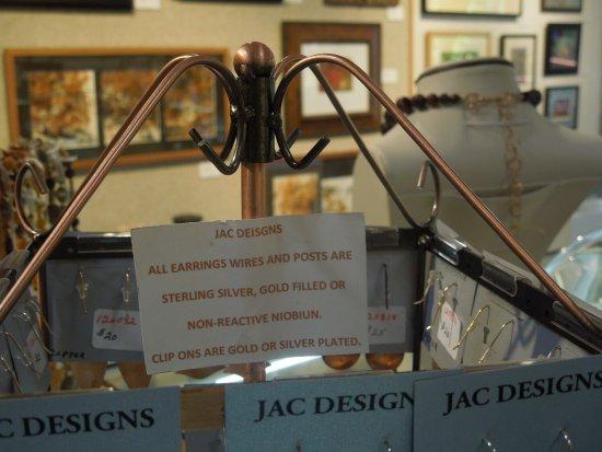 Sedona Arts Center: Jewelry designer uses non-reactive metals in beautiful creations
