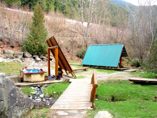 Skookumchuck, Canada: Tsek Hot Springs tub