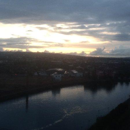 Hilton Belfast: sunrise on Saturday 1st October.