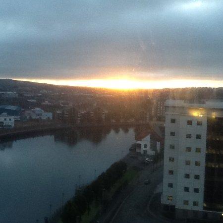 Hilton Belfast: Sunrise on Friday 30th September