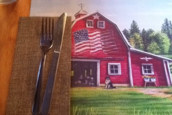 Port Jervis, Nova York: Place Mat ... how patriotic !