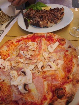 Provincia di Pisa, Italia: Пицца и стейк