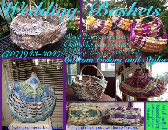 Miranda, Kalifornia: Handmade/Custom Baskets, Monthly Basket Workshops
