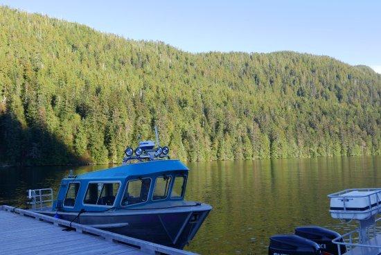 Klemtu, แคนาดา: Anlegesteg der Lodge