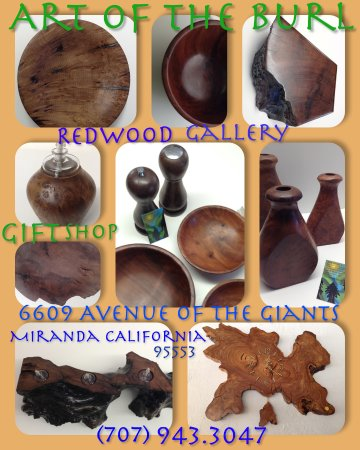 Miranda, Californien: Featuring Large Art Bowls, hand carved and lathe turned, vases, clocks, and more!