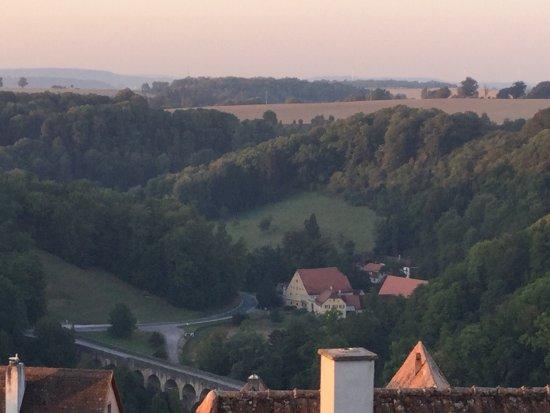Hotel Gotisches Haus: Sunrise from balcony