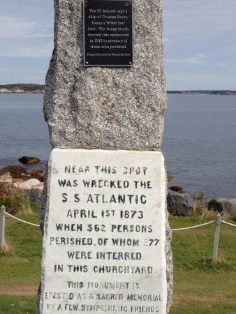 SS Atlantic Heritage Park: Original site plaque