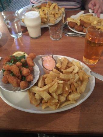 Kilmore Quay, ไอร์แลนด์: Fresh breadcrumb scampi delish