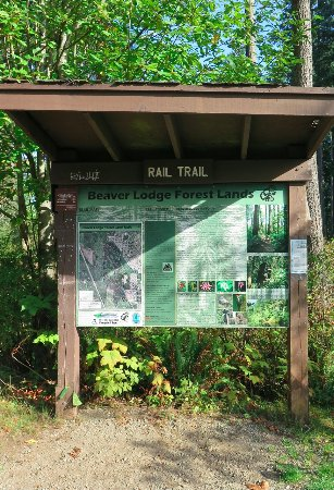 Campbell River, Kanada: Info station at both ends of trail(s)