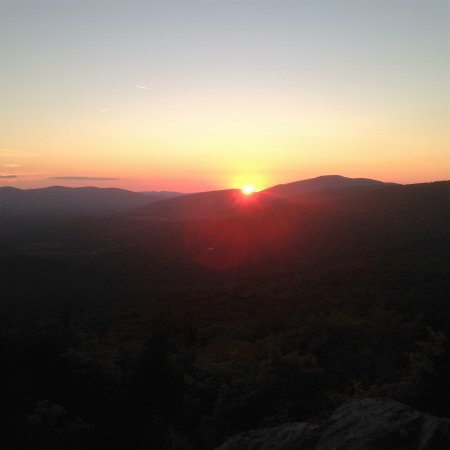 Grayson Highlands State Park: sun setting