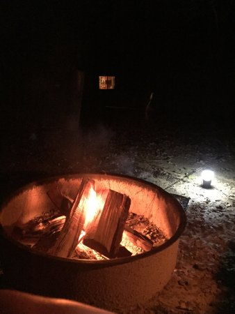 """Can't beat a campfire! Ours was """"magically"""" cleaned out before we woke up!"""