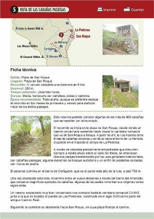 San Roque de Riomiera, Španělsko: Guía de la Ruta