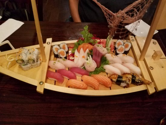 Wasabi: Love Boat. Who doesn't love sushi and sashimi served on a boat!