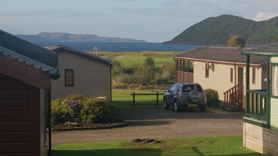 Tralee Bay Holiday Park: The view from our caravan