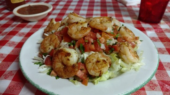 Elgin, SC: Chavela's Shrimp Salad (w/extra shrimp)