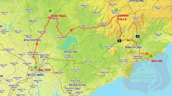 THESE TOURS AND MAPS ARE BELONG TO VIETNAMRIDER®. NO COPY PLEASE ...
