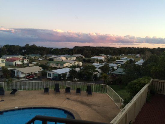 Hallidays Point, Australia: view over the camping grounds