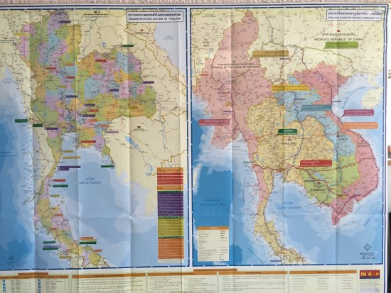 Maps that decorate the walls Bangkok Thai 259 Island Highway E