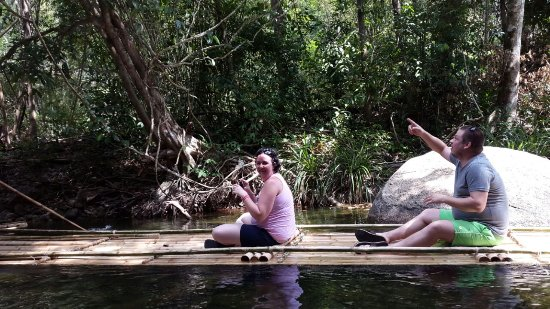 JC Tours: Bamboo Rafting and seeing a pathon in the trees