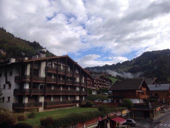 Le Grand-Bornand, فرنسا: Vue du balcon