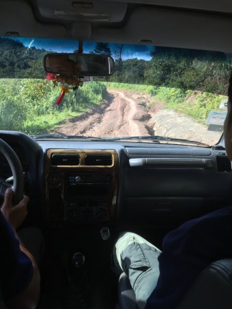 Muang La, Laos: On the road for a Trek with our driver and guide