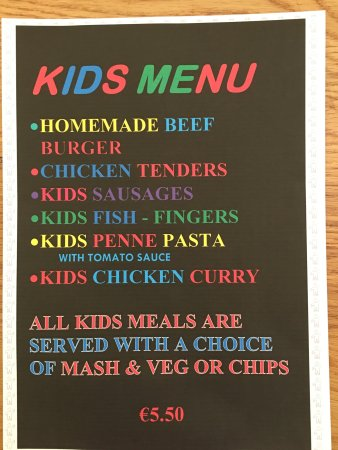 Эннис, Ирландия: Kids menu 😀😀